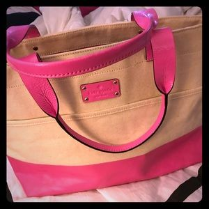Handbags - Kate Spade Canvas and Leather tote